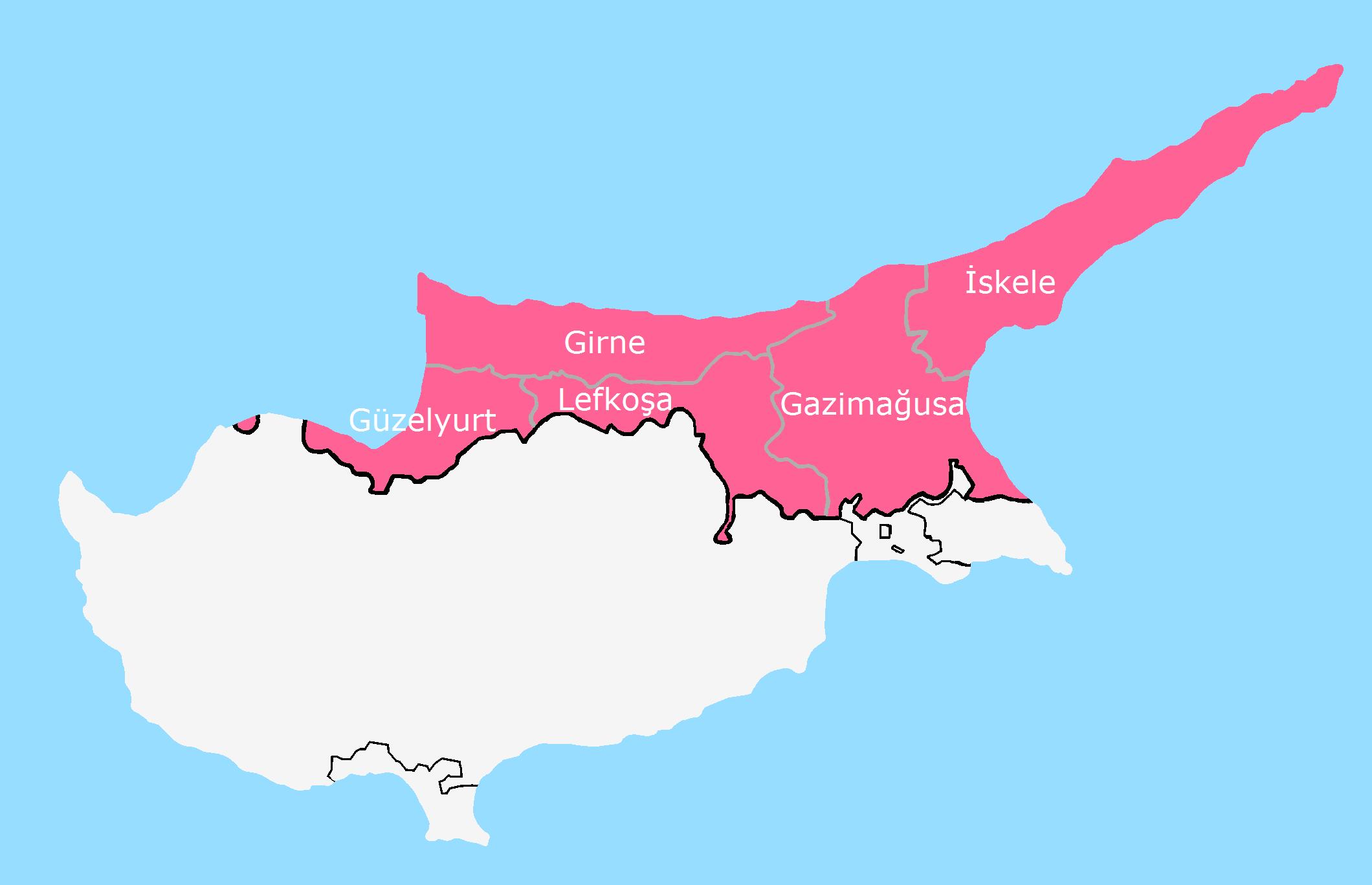 kibris il ve ilceleri Kıbrıs İl ve İlçeleri